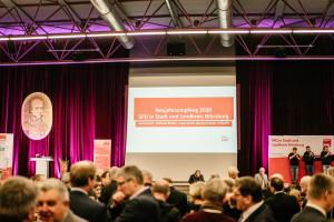 600 Gäste waren zum Neujahrsempfang von SPD in Stadt und Landkreis Würzburg gekommen. (Foto: Maurice Schönen)