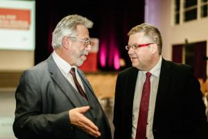 Harald Schmid und Volkmar Halbleib im Gespräch (Foto: Maurice Schönen)