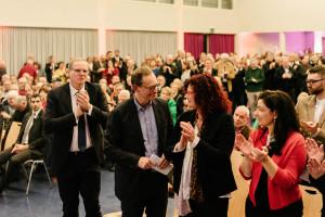 Nach der Rede von Michael Müller, Regierender Bürgermeister von Berlin (Foto: Maurice Schönen)