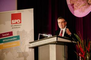 Grußwort unseres Kreisvorsitzenden und Landtagsabgeordneten Volkmar Halbleib (Foto: Maurice Schönen)