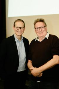 Michael Müller mit Eibelstädter Bürgermeisterkandidat Thomas Kehlert (Foto: Maurice Schönen)